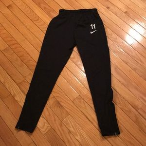 Nike dri fit leggings S with zippers sides